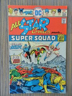 DC Comics - All Star Comics #58 - First appearance of Earth 2 Power Girl - Bronze Key Issue - 1x SC - (1976)