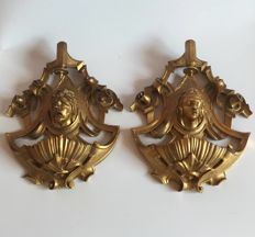 Gilt wood stoups - Italy - second half of the 19th century