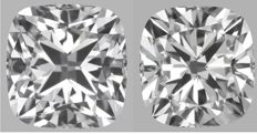 Pair of  Cushion Modified Brilliant  1.50ct  total FVVS2-FVVS2 - GIA #GW4407
