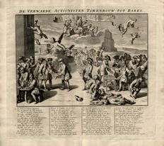 Anonymous - The confused Actionist - Tower of Babel - Broadside  - 1720