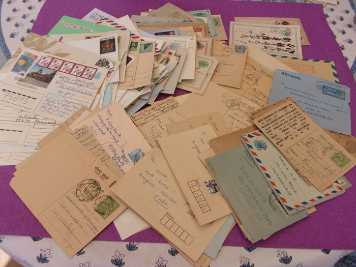 World - Collection of old letters and  postal stationery