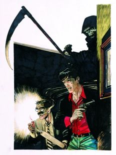 "Di Vincenzo, Maurizio - original illustration ""Dylan Dog & Groucho"""