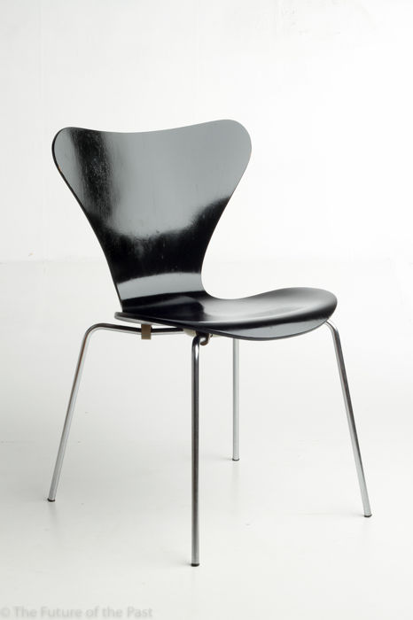 arne jacobsen for fritz hansen original black butterfly chair catawiki. Black Bedroom Furniture Sets. Home Design Ideas