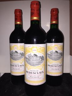 1998 Chateau Pedesclaux, Pauillac Grand Cru Classé - 3 bottles