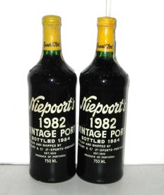 1982 Niepoort's Vintage Port - Lot of 2 Bottles
