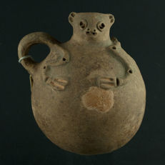 Pre-columbian Animal Effigy vessel - 15 cm