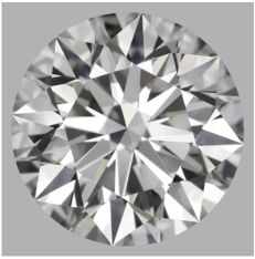 0.56ct Round Brilliant Diamond E IF IGI -Original image  3EX #462