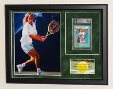 Andre Agassi original autographed Sports Illustrated tennis card - Premium Framed - Beckett Certified