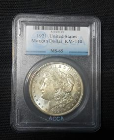 United States - Morgan Dollar 1921 - Silver