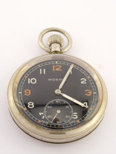 Moeris pocket watch, observation watch, British military, 1930s