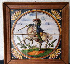 Beautiful old tile panel