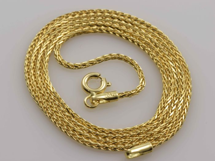 "18k Gold Necklace. Chain ""Wheat"" - 50 cm. Weight 4.1 g. No reserve price."