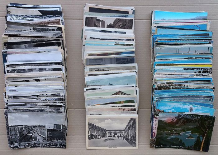 Lot of 400 Regional Italian postcards 1900/1980