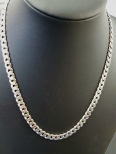Silver 925 curb link necklace - 52 cm