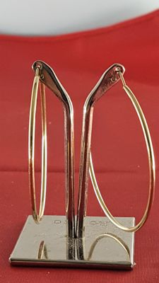 Hoop earrings in 18 kt yellow gold – Diameter: approx. 5 cm