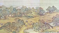 A City of Cathay Handscroll, Modern print reproduction - China - late 20th/21st century