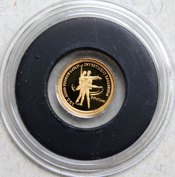 Nauru - 5 dollars 2009 'Investment Ballerina' - gold