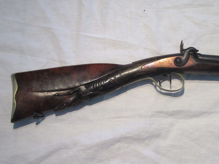 St-Etienne percussion rifle with silver coloured trim