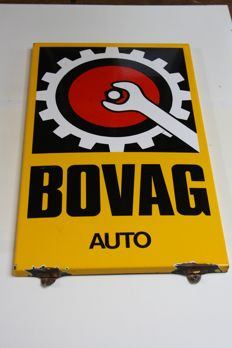 Enamel BOVAG sign - approx 1980