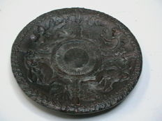 Bronze christening plate, 19th century