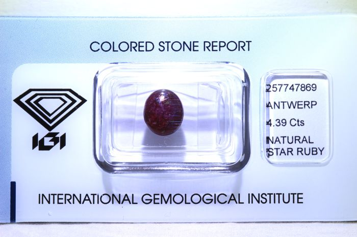 Star Ruby – 4.39 ct – No Reserve Price
