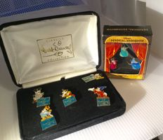 Disney, Walt - 2 Pin sets - Walt Disney Classics Collection - Mickey Mouse (5p) + Disney Magical Moments - Sleeping Beauty (3p) - (1990's)