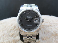 1991 ROLEX DATEJUST 16234 WITH ORIGINAL MATTE GREY RAISED ROMAN DIAL