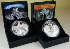Cook Islands – 10 Dollars 2016 'Guinevere Camelot' & 'King Arthur Camelot' Knights of the Round Table (2 coins) – 2oz silver