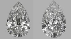 Pair of  Pear  Brilliants   1.5ct total   DIF-DVVS1 - GIA #GW3407