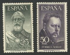 Spain 1953 – Legazpi and Sorolla. CEM certificate – Edifil no. 1124/1125