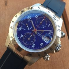 Tudor Rolex — Prince Date Chronograph Blue 79280 Top Condition – Automatic – Men's watch – 2000–2010
