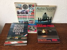 Lot of 5 books about Racing Cars.