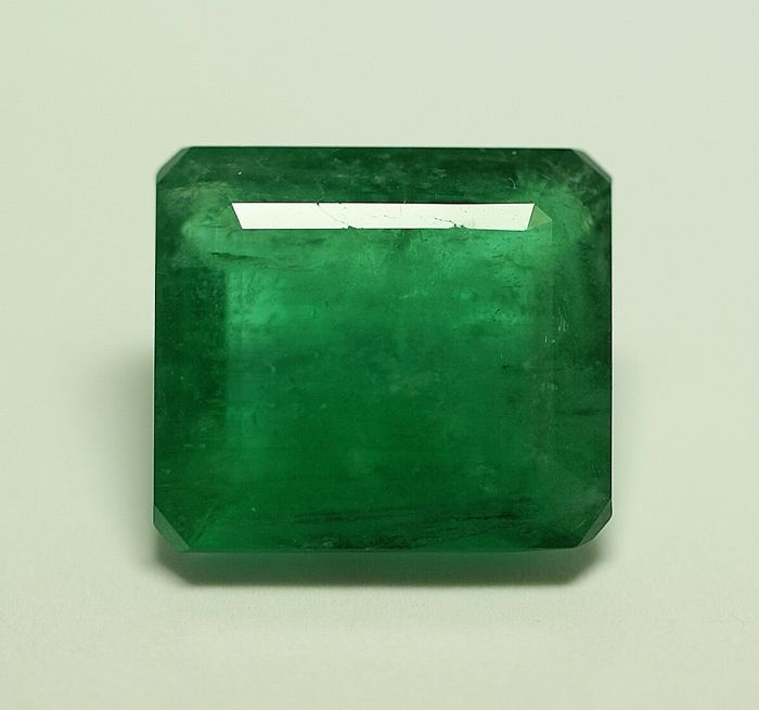 Emerald - green - 10.27 ct