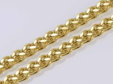 18k Gold Necklace. Chain - 55 cm • No reserve price •