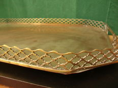 Large  Silver Plated Tray - UK - Ca 1920