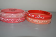 Chanel 'ROUGE COCO shine' bracelets