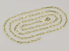 18 kt gold chain.  Length: 64 cm *** No reserve price ***