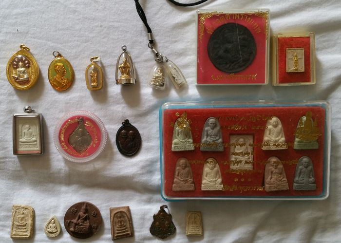 Buddhist amulets from family property - Thailand - first half and second half 20th century