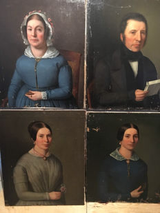 Portraits  oil on canvas  circa 1860