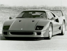 3  Ferrari F40 original  press photographs. 16cm x 13cm.