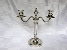 Heavily made 2 light candle stand, Collection Gallia, Christofle, after 1935
