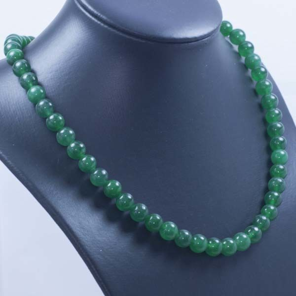 Emerald necklace in 18 kt gold –  45cm