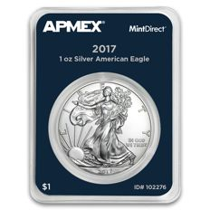 USA - 1 oz 999 silver MintDirect silver coin certified quality - American silver eagle