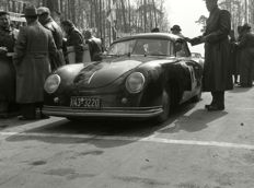 Porsche 356 split screen 1952 Dieburger Dreicks Race black and white photograph. 3   55cm x44cm