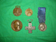 lot of miscellaneous medals