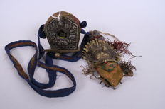 Tibetan travelling shrine in original carrying case - Nepal/Tibet - second half 20th century