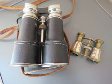 Two pairs of binoculars, dating from 1940 to 1950. from France and Italy