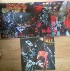 Great KISS Live Recordings on vinyl || 2 still in fabric sealing! || 3x LP || Colored Vinyl ||