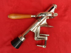 Large professional vintage table corkscrew brand Gilma Rapid, Swiss Made.