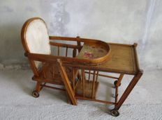 Antique high-chair
